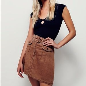 Free People Braided Waist Skirt